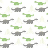 Ornament with dinosaurs in the forest. Stock Image