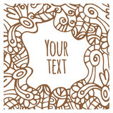 Ornament doodle card. Vector ornament doodle card. Abstract pattern. Place for your text Royalty Free Stock Photography