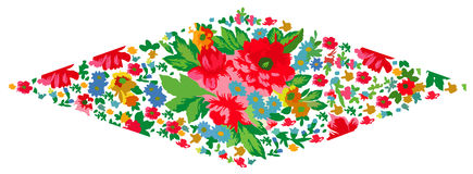 Ornament. Drawing Floral Plate for background Stock Images