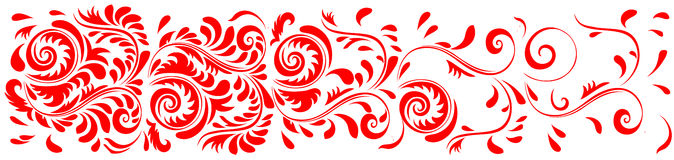 Ornament. Drawing Floral Red for background Stock Photo