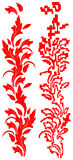 Ornament. Drawing Floral Red for background Stock Photos