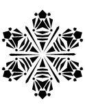 Ornament. Drawing snow Snowflack for background Royalty Free Stock Images