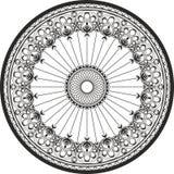 Ornament in een cirkel - Uit gegoten staal en Smeedijzerornament royalty-vrije stock afbeeldingen