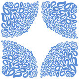 Ornament elements in blue and white colors. Royalty Free Stock Photo