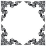 Ornament elements frame, vintage silver floral designs Royalty Free Stock Images