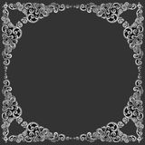 Ornament elements frame, vintage silver floral designs. Ornament elements frame, vintage silver floral Royalty Free Stock Photo