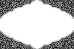 Ornament elements frame, vintage silver floral. Designs Royalty Free Stock Photos