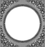 Ornament elements frame, vintage silver floral. Designs Stock Image