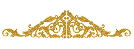 Ornament elements, vintage gold floral designs. The Ornament elements, vintage gold floral designs stock photo