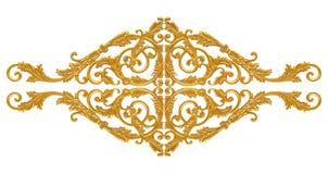 Ornament elements, vintage gold floral designs. The Ornament elements, vintage gold floral designs stock photos