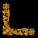 Ornament elements, vintage gold floral. Designs Royalty Free Stock Images