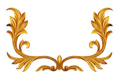 Ornament elements, vintage gold floral designs. Ornament elements, vintage gold floral Stock Photography