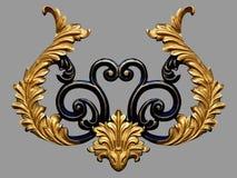 Ornament elements, vintage gold floral designs. Ornament elements, vintage gold floral Stock Photo