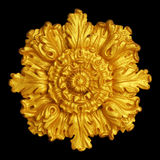 Ornament elements, vintage gold floral. Designs Stock Image