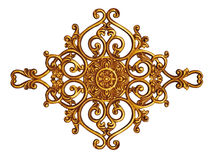 Ornament elements, vintage gold floral designs Stock Images