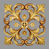 Ornament elements, vintage gold floral Royalty Free Stock Image