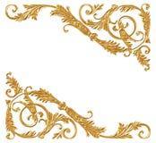 Ornament elements, vintage gold floral Stock Image