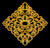 Ornament elements, vintage gold floral Stock Photography