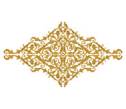 Ornament elements, vintage gold floral designs Stock Image