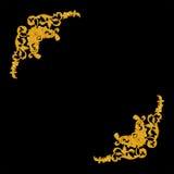 Ornament elements, vintage gold floral designs.  Royalty Free Stock Images