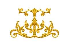 Ornament elements, vintage gold floral. Designs Royalty Free Stock Image