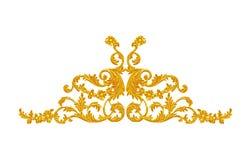 Ornament elements, vintage gold floral designs Royalty Free Stock Images