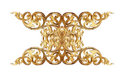 Ornament elements, vintage gold floral designs. Isolate Royalty Free Stock Image