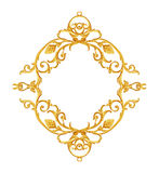 Ornament elements, vintage gold floral designs. Isolate royalty free stock photography