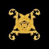 Ornament elements, vintage gold floral designs Stock Photo