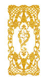 Ornament elements, vintage gold floral designs Stock Image