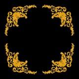 Ornament elements, vintage gold floral designs Stock Photos