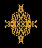 Ornament elements, vintage gold floral designs Stock Photography