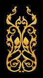 Ornament elements, vintage gold floral designs Royalty Free Stock Photo