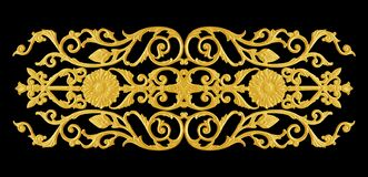 Free Ornament Elements, Vintage Gold Floral Designs On Black Royalty Free Stock Image - 219252046