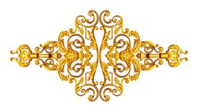 Ornament elements, vintage gold floral designs.  stock photo