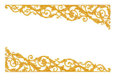 Ornament elements, vintage gold floral designs royalty free stock images