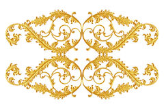Ornament elements, vintage gold floral designs stock photography