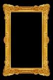 Ornament elements, vintage gold frame floral designs Royalty Free Stock Image