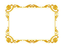 Ornament Elements, Vintage Gold Frame Floral Designs Royalty Free Stock Photo