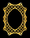Ornament elements, vintage gold frame floral designs. Isolate royalty free stock image