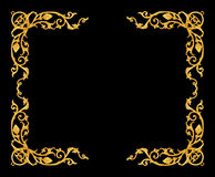 Ornament elements, vintage gold frame floral designs. Isolated Royalty Free Stock Photo