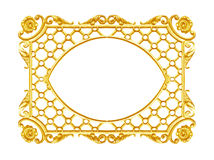 Ornament elements, vintage gold frame floral designs Stock Images