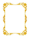 Ornament elements, vintage gold frame floral designs Stock Photography