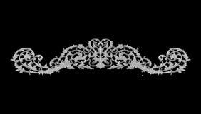 Ornament elements, vintage gray floral designs Stock Photo