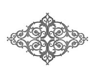 Ornament elements, vintage gray floral designs. Royalty Free Stock Photography