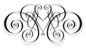 Ornament Embellishment. Linear drawing for embellishing blocks of text or use as a basic element in a design Stock Photo