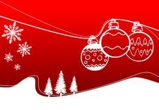 Ornament en Sneeuw Royalty-vrije Stock Fotografie