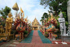 Ornament: entrance view of Wat Tai-Phra-Chao-Yai Royalty Free Stock Photos