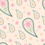 Ornament for fabrics with turkish cucumbers Royalty Free Stock Photography