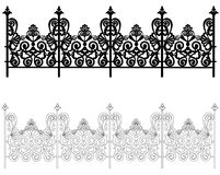 Ornament for a fence. Ornament for a metal fence in two versions Stock Images